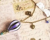 Reach for the sky - a hot air balloon vintage necklace