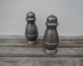 RESERVED -Vintage Pewter Salt and Pepper Shakers