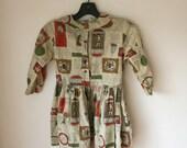 50s Retro Girl's Dress Sz 12 / 14