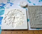 Clay Stamp Greenman Pottery Press Mold Relief Mold or Sprig Mold Bisque Clay Stamp for Ceramic Decoration and Texture