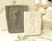 Clay Sprig - Small Seahorse Pottery Press Mold - Relief Mold - Push Mold for Ceramic Decoration and Texture