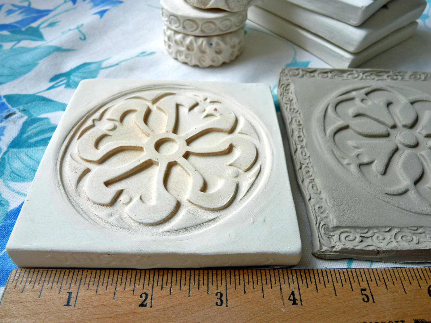 Clay Stamp Mandala Pottery Press Mold Relief Mold Or Sprig
