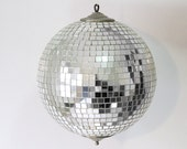 Vintage Mirrored Disco Ball with 1 light NOS