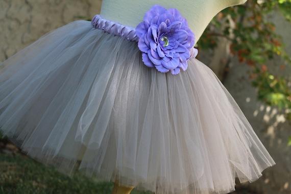 Silver Tutu, Flower Girl Tutu, Dance Tutu