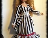 Ellowyne MSD DOLLFIE Sleepy Hollow Dress Gown Victorian Steampunk Fashion Outfit