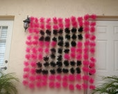 Tulle Garland LETTER  Backdrop. for birthday parties, wedding, baby shower, bridal shower and many more