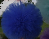 Royal Blue Tulle pom poms for weddings, kids parties, baby showers and so much more..
