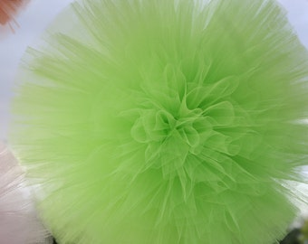 Apple Green Tulle pom poms for weddings, kids parties, baby showers and so much more..