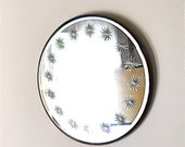 Vintage Art Deco Sunburst Etched Mirror