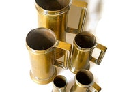 Vintage Brass Tankards - 1940s