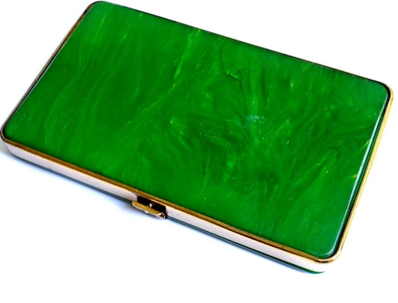 Bakelite CIgarette Case  Green - 1930s