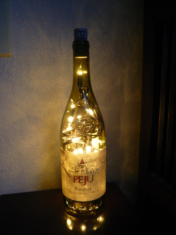 Up-Cycled Wine Bottle Lamp