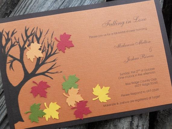 Fall Wedding Shower Invitations: Items Similar To Fall Bridal Shower Invitations On Etsy