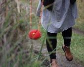 Felt Bag, Long Strap Shoulder Bag (red)