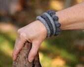Felt Fashion - Bangle Bracelet Combo (greys)