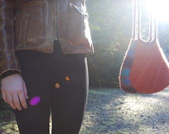 Orange Felt Purse, Shoulder Bag