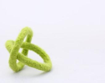 Kid's Bracelet, Felt Bangles (fresh green)