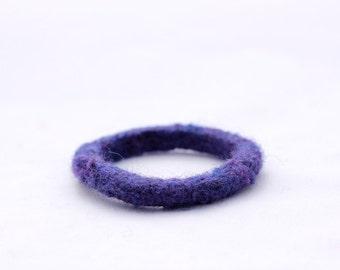 Kid's Bracelet, Felt Bangles in Springtime Colours (pansy purple)