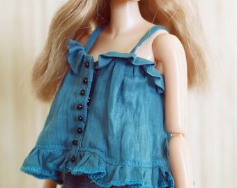 RYBG Creation - Blue Lace Vest Momoko or Nippon or Blythe