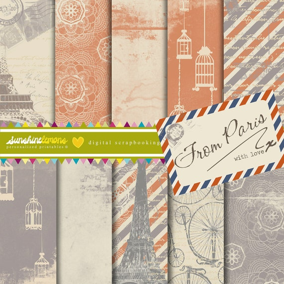 From Paris - French Inspired Digital Papers