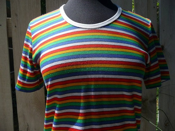 SALE Vintage Levi's Rainbow Striped Shirt