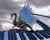 Fleece Blanket Dragon Musical Fantasy Soft Blanket or Throw