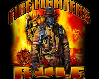 Fleece Blanket Fire Fighters Rule Fleece Blanket