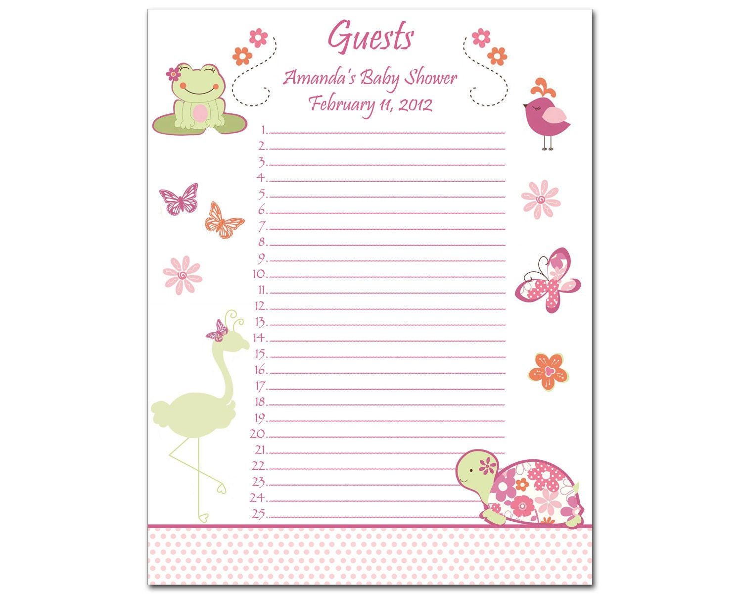 baby shower gift list templates httpwwwetsycomlisting89889012