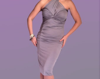 Wrap Bodycon Dress Made to Measure Convertible Midi Multi Way Gown Sexy Bodycon Dress Infinity Convertible Party Cocktail Evening Dress
