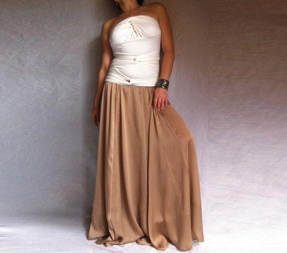 Maxi Chiffon Skirt Dusty Rose Colour