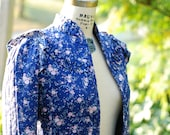 SALE 1970s Floral Jacket with Ruffle Collar by Jessica's Gunnies