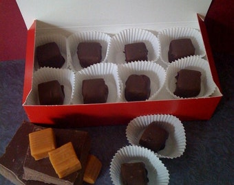 Hand Dipped Chocolate Covered Caramels ( 16 Pieces)
