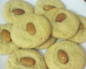 Banana Pudding Almond Cookies BAKED 3 Dozen