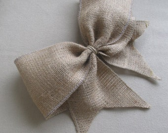 Burlap Bow extra large/  need more let us know