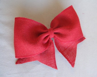 red Burlap Bow extra large/  need more let us know