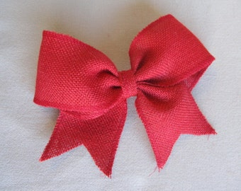 RED Burlap Bow for wreaths garland and packages need more let us know