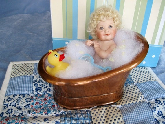 Baby Gifts For Japanese : Items similar to porcelain baby bathing beauty doll in