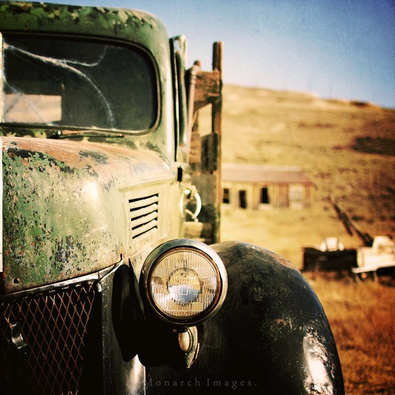 The Pickup - Original Fine Art Photograph - Vintage Truck, Rural Urban Decay, Square, FREE SHIPPING