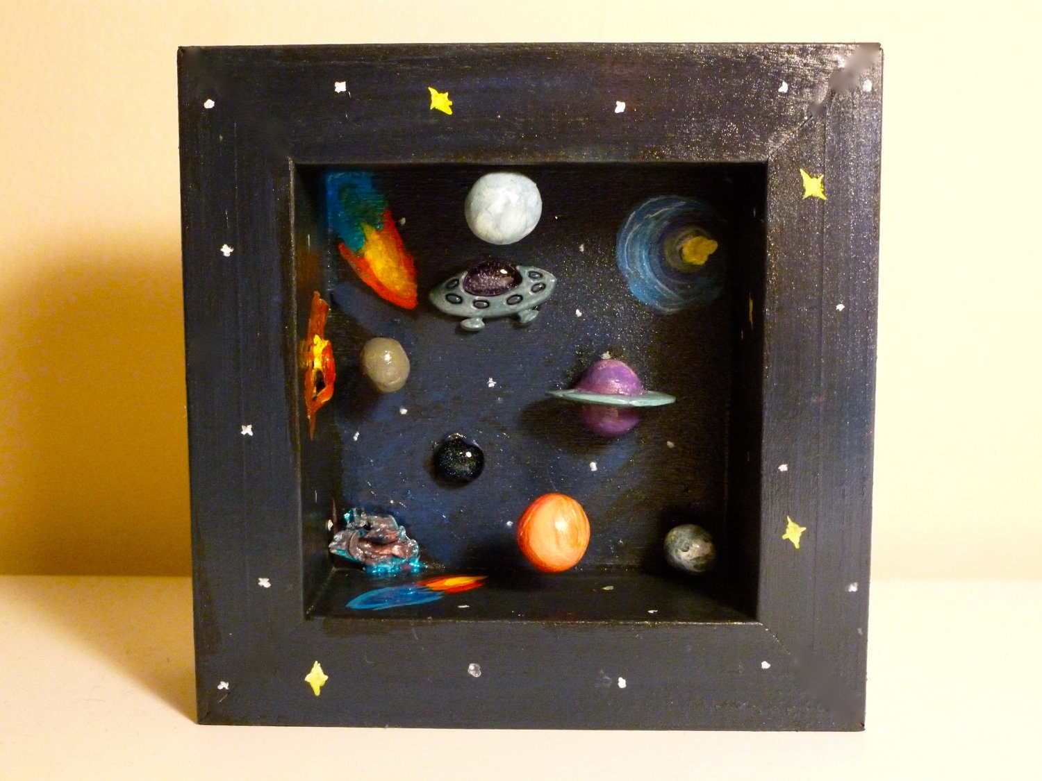 The great abyss space diorama shadow box for Outer space project