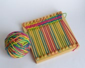 Wood weaving loom for kids crafts / fine motor wood toy
