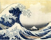 Japanese Art. Fine Art Reproduction. The Great Wave at Kanagawa, c.1830 by Hokusai. Fine Art Print - DaVinciArtPrints