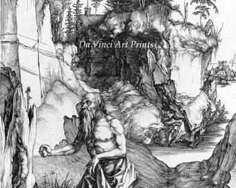 3 Fine Art Reproductions. Three Prints of Saint Jerome by Albrecht Durer. 3 Fine Art Prints.