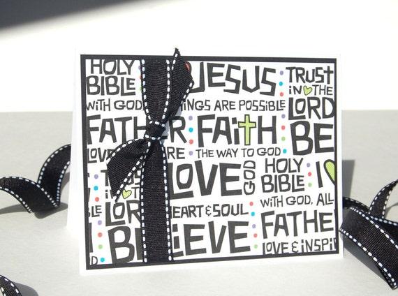Handmade Christian Greeting Card - My Redeemer - Free US Shipping