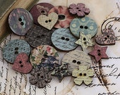 Prima  - Fairy Belle Collection - Wood Buttons