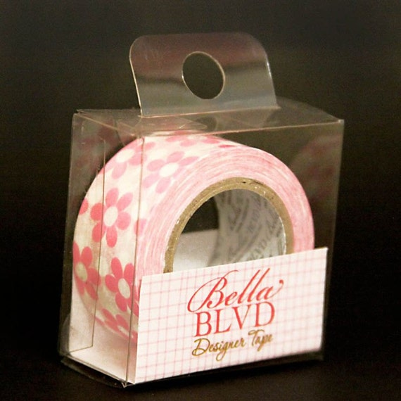 Bella Blvd. - Designer Tape - Pink Flowes (19mm)