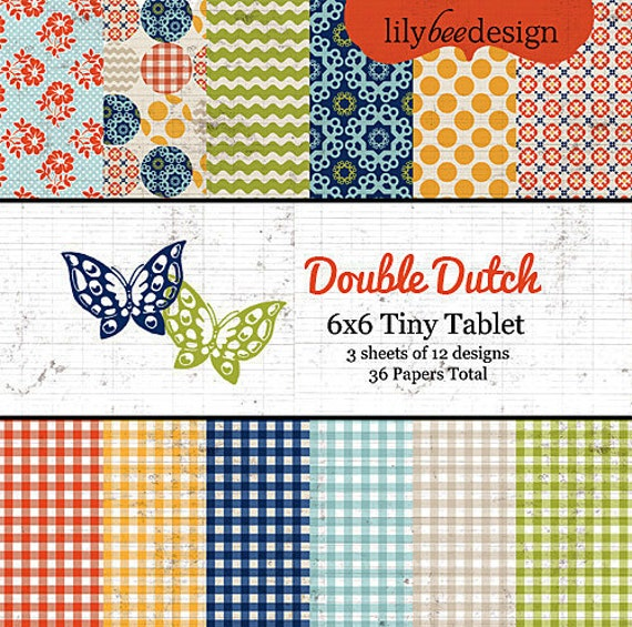 Lily Bee Design - Double Dutch Collection - 6x6 Tiny Tablet