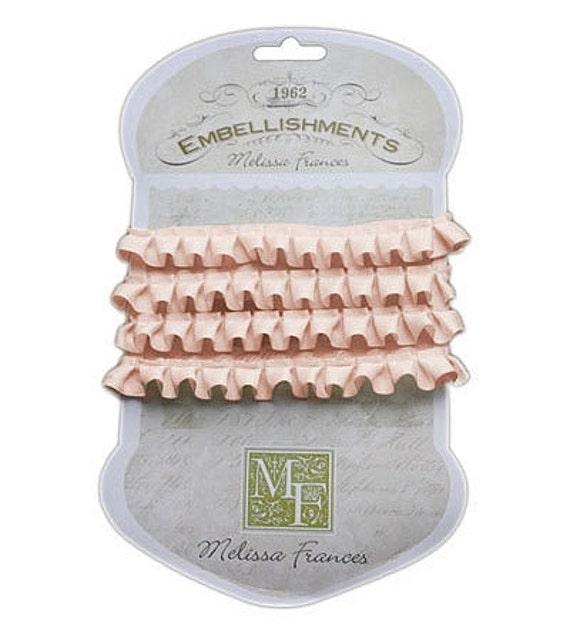 Melissa Frances - Pleated Satin Ribbon - Pink