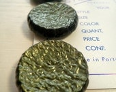 SALE Green Handmade Vintage Button(Pack of 3)