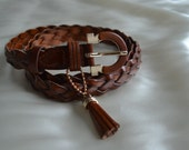 Red Brown Braided Belt with Tuff (Reserved for MalGrace)