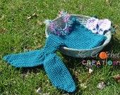 Mermaid tail, headband, and shell bra photography prop
